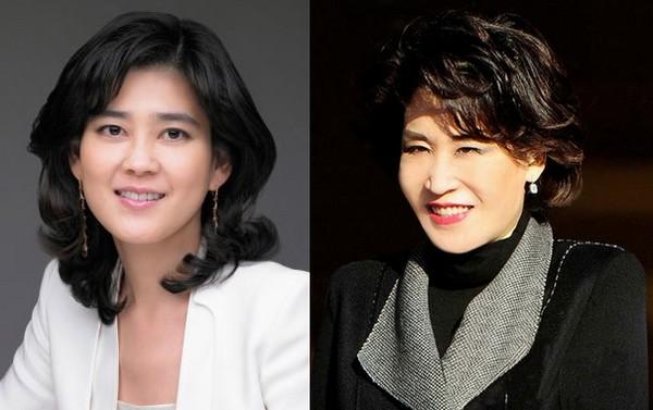 ▲이부진(왼쪽) 호텔신라 대표이사 사장, 정유경 신세계백화점 총괄사장.