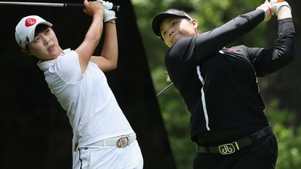 ▲김효주와 아리야 주타누간(오른쪽)(사진=LPGA)