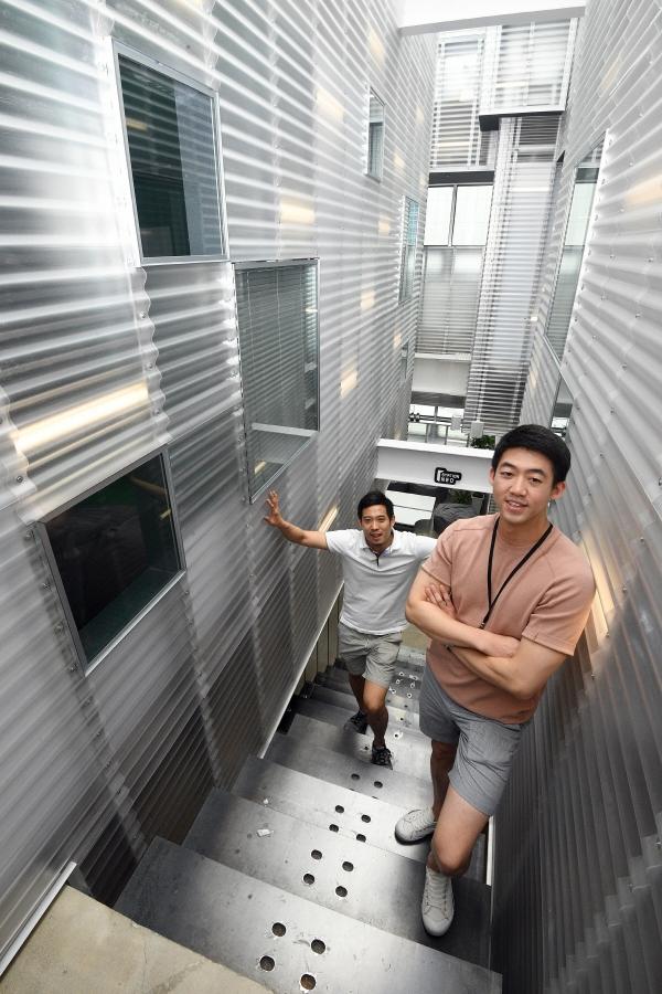 ▲장지현(왼쪽)·김영우 스테이션니오 공동대표. 오승현 기자 story@