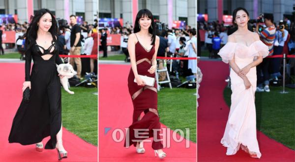 ▲(사진 왼쪽부터) 낸시랭, 레이, 박지현.(이투데이DB)