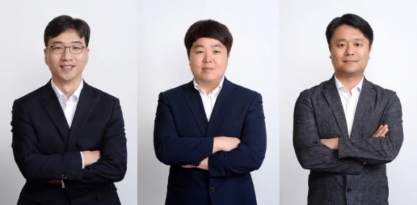 ▲라구나인베스트먼트 설립 멤버인 박형준 대표이사(왼쪽부터), 박영호 파트너, 구경모 전무(라구나인베스트먼트)
