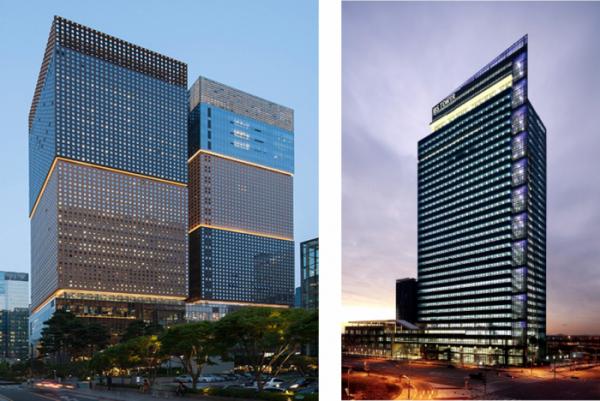 ▲서울 광화문 D타워(좌측), 인천 송도 IBS타워(우측)
