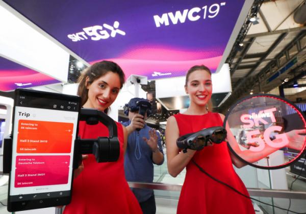 ▲SK텔레콤은 스페인 바르셀로나에서 25일(현지시각)부터 나흘간 열리는 'MWC19'를 통해 공간 한계를 극복하는 5G VR, 반도체를 검수하는 AI 등 첨단 기술이 적용된 생활상을 선보인다.(사진제공= SK텔레콤)