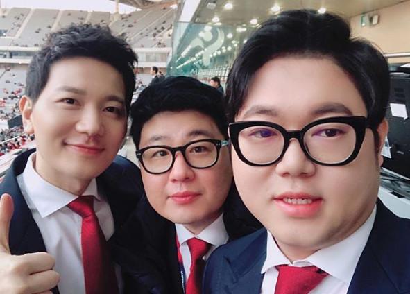 ▲김정근(왼), 서형욱, 감스트(출처=감스트SNS)