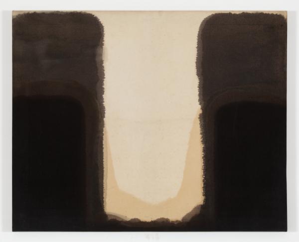 ▲윤형근, 청다색, 1975, 면포에 유채, 80.6x100cm.(사진제공=국립현대미술관)