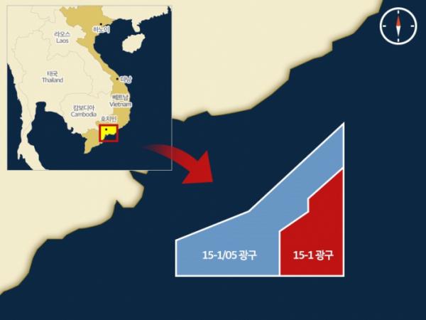 ▲SK이노베이션 베트남 광구 지도(사진 제공=SK이노베이션)