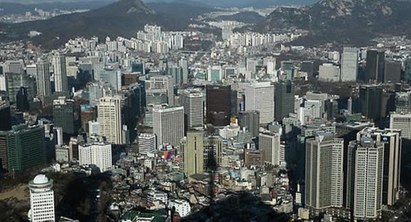 ▲대기업들이 빼곡히 들어선 서울 도심의 모습 (연합뉴스)