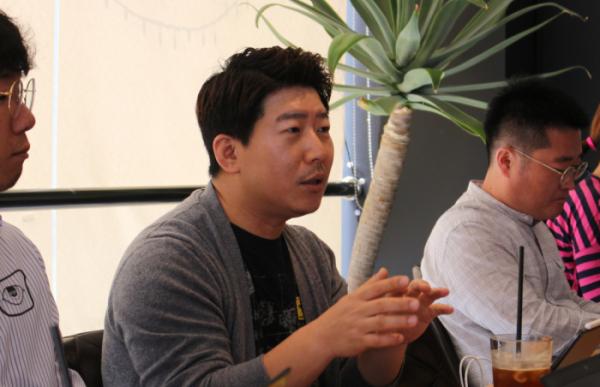▲김상훈 뿅카 대표가 올해 사업계획에 대해 설명하고 있다. 사진제공 뿅카