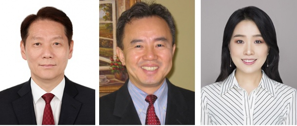 ▲이석준 감사 (왼쪽), 우원하 CAO (가운데), 이우진 법률특허 자문(신테카바이오)
