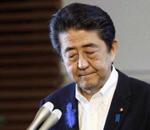▲아베 신조 일본 총리. AP연합뉴스