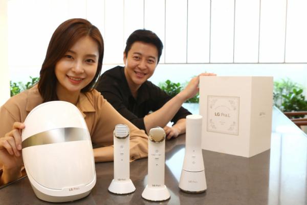 ▲LG전자가 올해 7월 출시한 'LG 프라엘 플러스' 신제품 4종(사진제공 LG전자)
