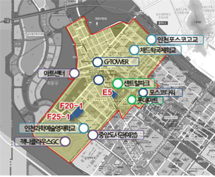 ▲송도국제도시 국제업무단지(IBD) 개발도. (자료 제공=인천경제자유구역청)