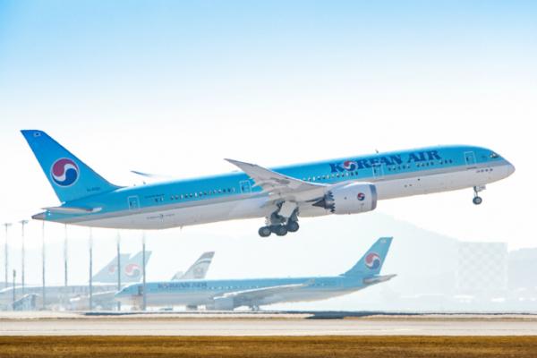 ▲대한항공 보잉787-9(사진제공=대한항공)