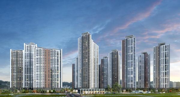 ▲'의정부역 센트럴자이&위브캐슬' 아파트 투시도.(자료제공=GS건설)