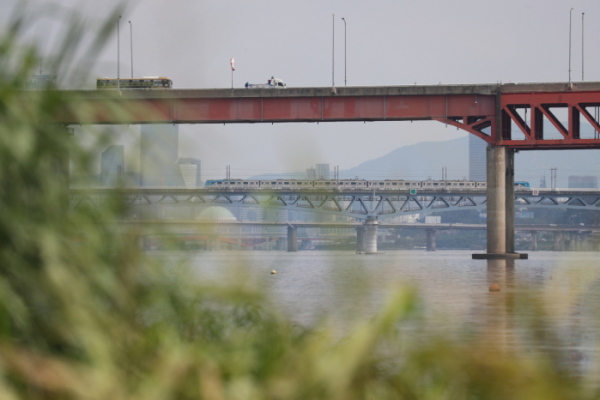 ▲시신이 발견된 마곡철교 일대의 모습.(연합뉴스)