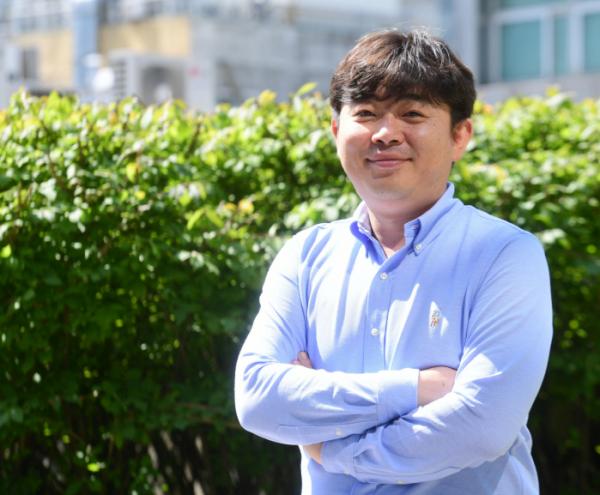 ▲남성준 다자요 대표가 19일 서울 중구 명동의 한 카페에서 이투데이와 인터뷰를 하고 있다.( 고이란 기자 photoeran@)