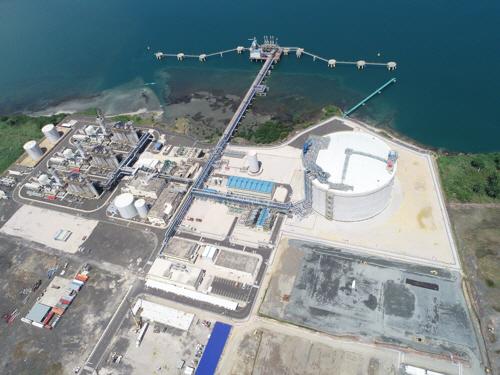 ▲파나마 콜론 LNG프로젝트 전경.(자료 제공=포스코건설)