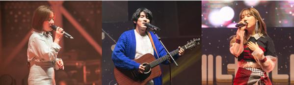 ▲(왼쪽부터) 가수 벤, 홍이삭, 미아  사진제공 : 쇼디치커뮤니케이션