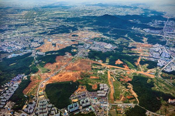 ▲인천 서구 검단신도시 일대 전경. (사진 제공=LH)