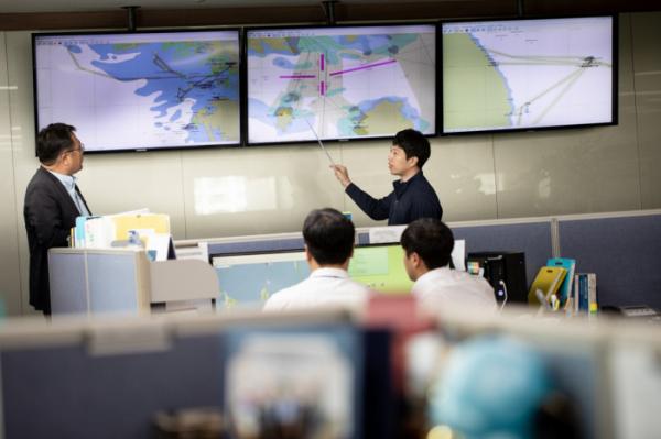 ▲한국해양교통안전공단의 교통안전 상황실. (사진제공=한국해양교통안전공단)