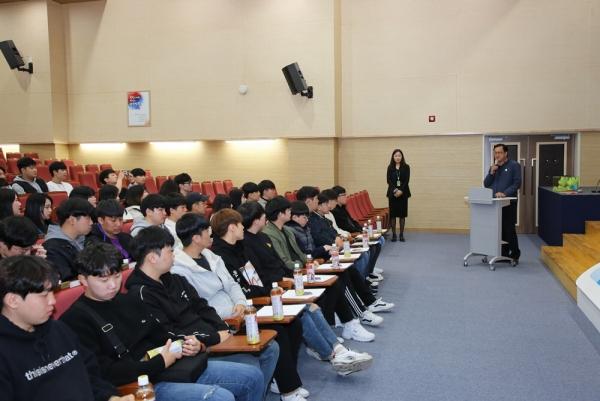 ▲한국국토정보공사(LX)는 7일 전북 전주시 전북혁신도시 본사에서  'LX 진로 체험 프로그램'을 열었다.(사진 제공=한국국토정보공사)