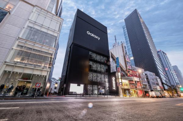 ▲일본 도쿄에 위치한 삼성의 '갤럭시 하라주쿠' 외관  (사진제공=삼성전자)