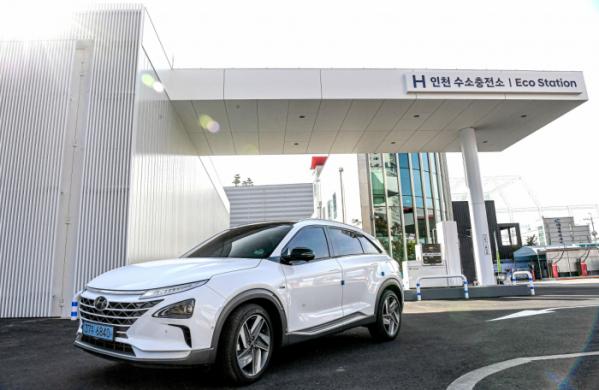 ▲현대자동차가 인천시 남동구에 'H인천 수소충전소'를 설치하고 22일 운영을 시작한다.  (사진제공=현대차)