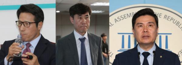 ▲정병국·하태경·지상욱 의원 (연합뉴스)