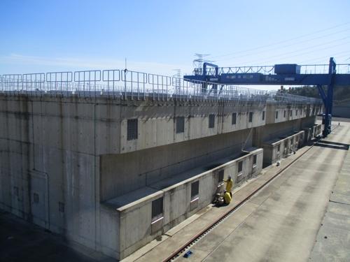 ▲사진은 월성 원자력발전소 사용후핵연료 임시저장시설 모습 (사진제공=한국수력원자력)