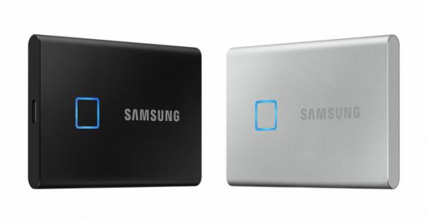 ▲삼성전자 포터블 SSD 'T7 터치(Touch)' (사진제공=삼성전자)