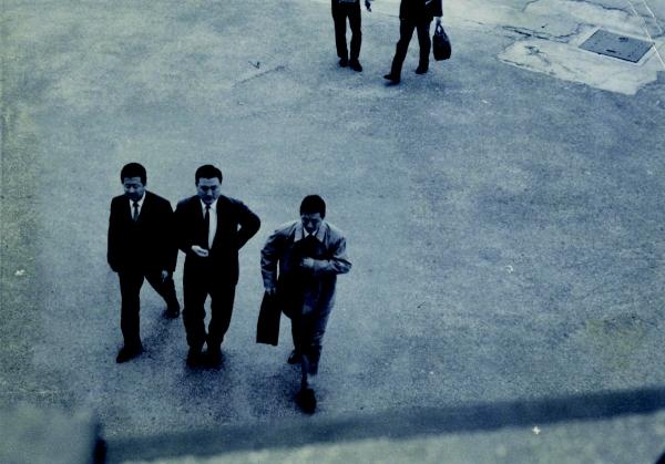 ▲1965년김포공항으로 입국하는 신격호 명예회장