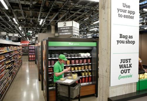 ▲아마존이 시애틀에 문을 연 '아마존고 식료품 매장'. 시애틀/로이터연합뉴스