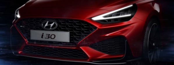▲현대차도 유럽 전략형 i30의 부분변경 모델을 공개한다. 앞모습에는 최근 현대차 디자인의 밑그림이 된 캐스케이팅 그릴을 내세운다.  (사진제공=현대차)