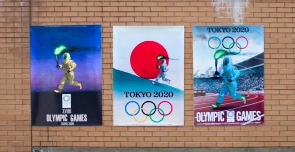 ▲반크와 이제석 이제석광소연구소 소장이 제작한 도쿄올림픽 패러디 포스터. 방사능에 대한 경각심을 심기 위해 만들었다. (출처=반크 페이스북 캡처)