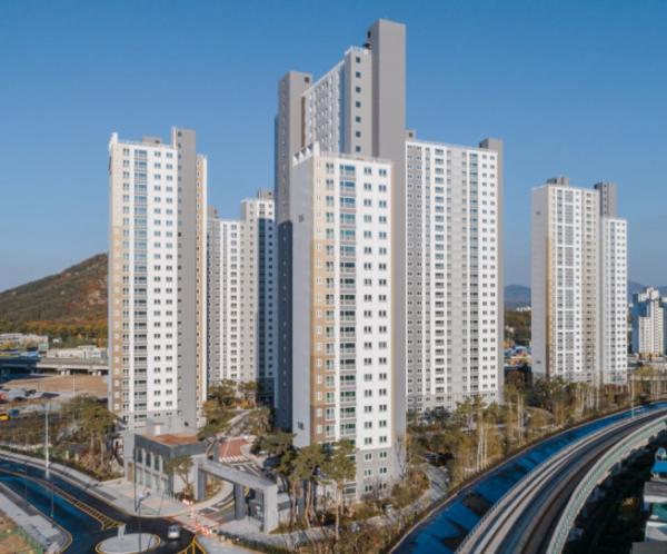 ▲현대건설 '힐스테이트 녹양역' 아파트 전경. (현대건설)