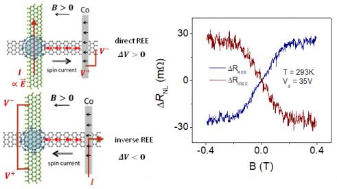 ▲그래핀 TMDC 접합을 통한 라쉬바-아델스타인 효과의 구현 (카이스트 제공)