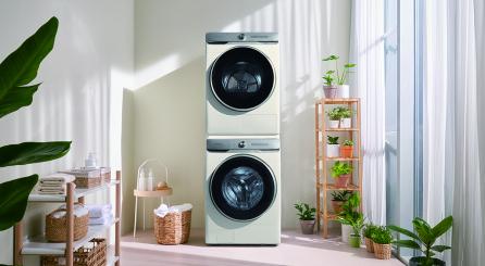 ▲삼성 그랑데 AI 건조기·세탁기 라이프스타일 이미지.  (사진제공=삼성전자)