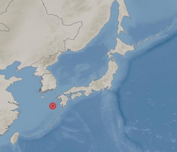 ▲지진 발생 지점  (사진제공=기상청)