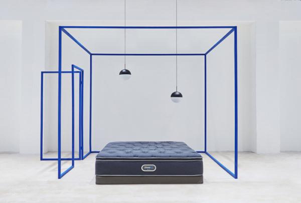 ▲시몬스 침대 프리미엄 매트리스 '뷰티레스트'의 '머스크' 제품.  (사진제공=시몬스 침대)