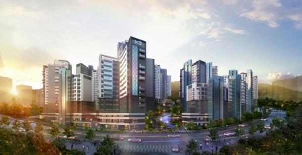 ▲GS건설이 이달 서울 동작구 흑석뉴타운 흑석3구역에서 분양하는 '흑석리버파크자이' 투시도.