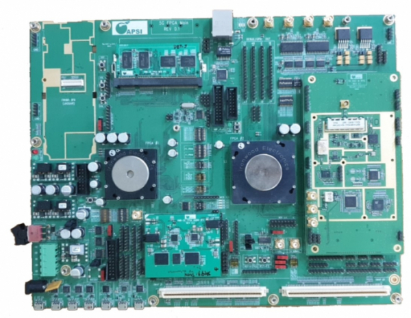 ▲5G FPGA(Field Programmable Gate Array) 보드  (제공=AP위성)