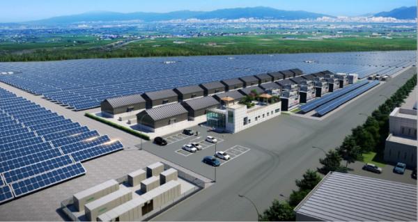 ▲새만금개발공사는 21일 새만금 육상 태양광 3구역 발전 사업을 수행할 우선협상대상자로 '새만금세빛발전소 컨소시엄'을 선정했다. 그림은 발전 시설 조감도. (자료 제공=호반건설)