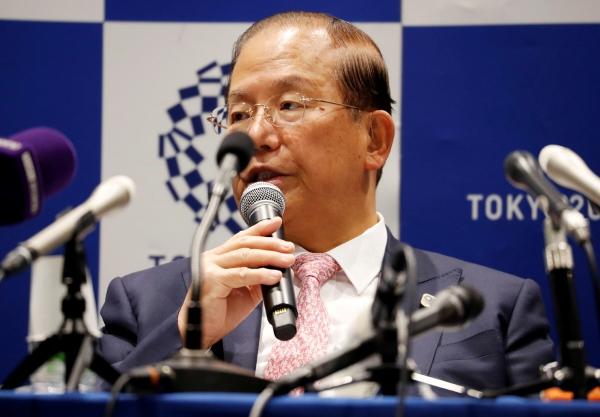 ▲무토 도시로 도쿄올림픽 조직위원회 사무총장이 3월 30일(현지시간) 일본 도쿄에서 기자회견을 하고 있다. 도쿄/로이터연합뉴스