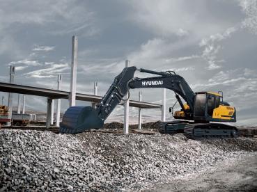 ▲현대건설기계가 최근 출시한 30톤급 A시리즈 굴삭기 모습(모델명: HX300A).  (사진제공=현대건설기계)