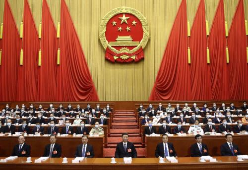 ▲2020년 5월 22일 중국 베이징 인민대회당에서 전국인민대표대회(전인대) 개막식이 열리고 있다. AP연합뉴스