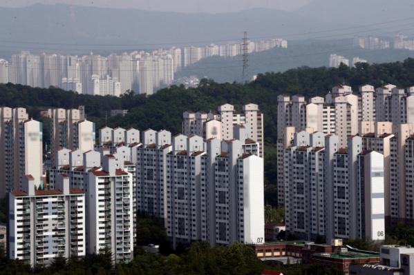 ▲경기 수원시 영통구 일대에 들어선 아파트 단지들 모습. (연합뉴스)