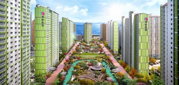 ▲'마린애시앙' 아파트 조감도.(자료 제공=부영주택)