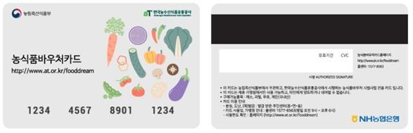 ▲농식품바우처 카드. (자료제공=농림축산식품부)