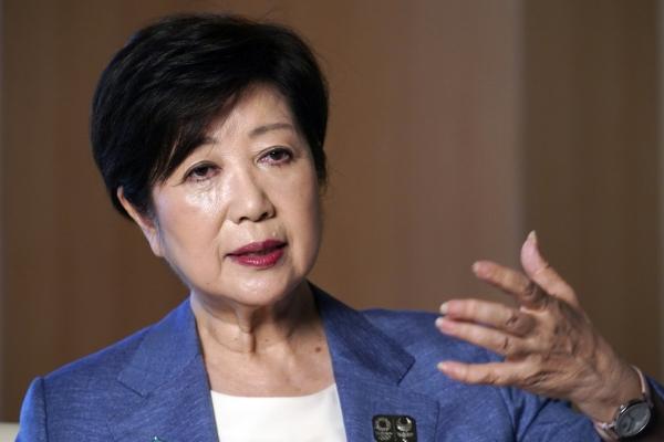 ▲고이케 유리코 도쿄도지사가  일본 도쿄도청 청사에서 AP통신과 단독 인터뷰를 하고 있다. 도쿄/AP뉴시스