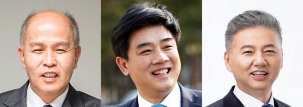 ▲이용우 더불어민주당 의원(왼쪽), 김병욱 의원(가운데), 홍성국 의원. (사진제공=각 의원실)